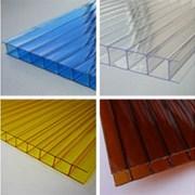 Сотовый поликарбонат  разной толщины, цветов фото