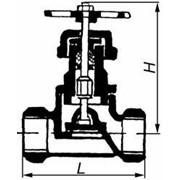 Клапан запорный проходной 15Б1п фото