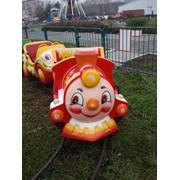 Детская железная дорога Веселый паровозик б/у фото