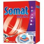 Таблетки для посудомоечных машин Somat Все в 1 56 шт (9000100833080) фото