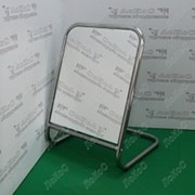 Зеркало для обуви 500Lx500Hx300Dмм, зеркальное полотно 500х250мм, 5MS-02(белый матовый) фото