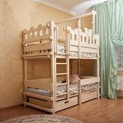 Детская игровая двухъярусная кровать Abra-Kids