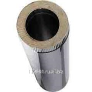 Сэндвич труба дымохода двухстенная из нержавеющего металла D150х205 мм фото