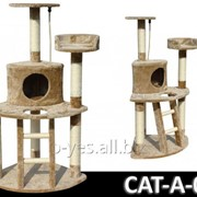 Когтеточка домик игровой комплекс для кота дряпка A-03 фото