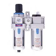Фильтр-регулятор-лубрикатор, размер соединения 1/4 дюйма, производительность 750 л/мин, давление 0,5-8,5 бар Мастак 690-2 фото