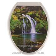 Сиденье для унитаза декор Водопад, Код: КУДК-813В фото