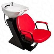 Парикмахерская мойка ДАСТИ с креслом СОЛО с глубокой раковиной фото