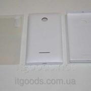 Крышка задняя белая для Microsoft Lumia 435 + ПЛЕНКА В ПОДАРОК 4707 фото