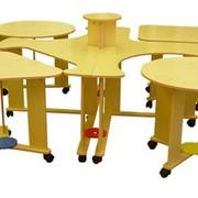 Стол модульный на колесных опорах (6 элементов) фото