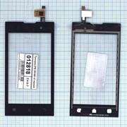Сенсорное стекло (тачскрин) для ZTE V815W v2 черное, Диагональ 4.4 фото