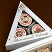 Конфеты золотые с логотипом. фото