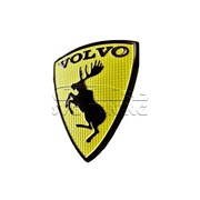Эмблема Вольво лось 6х8см, жёлтая, на багажник фото