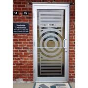 Двери в алюминиевом профиле фото