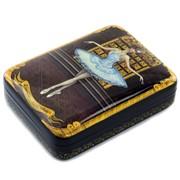Лаковая миниатюра Шкатулка Балет. Спящая красавица Холуй фото