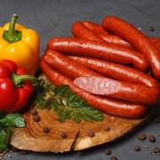 Колбаски салями мясные варено-копченые Охотские высший сорт фото