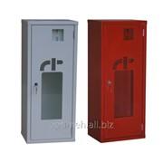 Шкаф для хранения огнетушителя , дверь со стеклом ШП-О-01НСБ/НСК фото