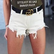 Женские джинсовые шорты, в расцветках (КМ-2-0418) фото