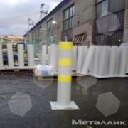 Металлический парковочный столбик вид 2 фото