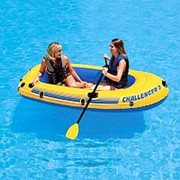 Лодка надувная Challenger 2 Intex 68367, двухместная фото