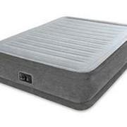 Надувная кровать Comfort-Plush, 152х203х46см, встроенный насос (Intex) фото