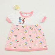 Платье детское baby smile 3870-к-14 кулирная гладь, размер 48-80 фото
