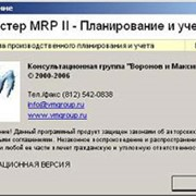 Программа Мастер MRP II фото