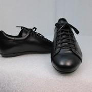 Туфли 2154 Спортивные туфли из превосходной черной натуральной кожи. фото