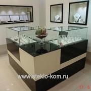 Ювелирные витрины и прилавки для магазинов фото