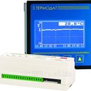Измеритель температуры Термодат-25М5 - 12 универсальных входов, 24 реле, 2 аварийных реле, интерфейс RS485, архивная память