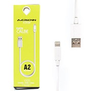 USB Data кабель Airsenn A2 Lightning 1m White (Белый) фото