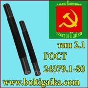 Болт фундаментный, 2.1 м20х400 ГОСТ 24379.1-80. Сталь: 3-35. Россия фото