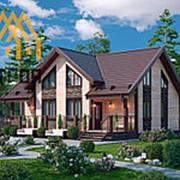 Дом из бруса и профилированного бруса (Проект №247) фото