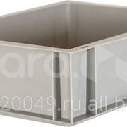 Пластиковый ящик 400х300х120 сплошной, гладкое дно Арт.803