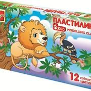 Пластилин ЗОО (МИНИ), 12 цв., (ЛУЧ) фото