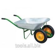 Тачка садовая два колеса, 170 кг фото
