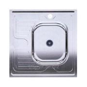 Мойка квадратная накладная правая 600х600х150 Asil Krom 0.4 60x60 R SATIN, арт.22624 фото