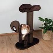 Когтеточка домик для кошки Рамирес Trixie 44490 высота 93см, коричневый. фото