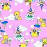 Ткань постельная Фланель 150 гр/м2 90 см Набивная Пчелки и мишки розовый/S852 TDT фото