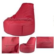 """Мебель бескаркасная Кресло Банан """"Leather Red"""" купить в России, Москве, цена от производителя фото"""
