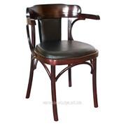 Венский деревянный стул-кресло Роза с мягкой спинкой фото