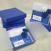 Открытка Синие розы фото