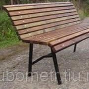 Скамейка для парка из дерева усиленная, 1,5 м фото