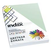 Бумага офисная Index Color, А4, 100 л, бледно-зеленый, 80 г фото