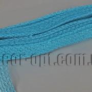 Сетка голубая гофрированная с люрексом для бантов и декораций 4,5см/25ярд 570575 фото