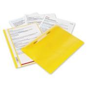 Папка-скоросшиватель Bantex с прозрачным верхним листом, А4, желтая фото