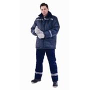 Куртка для охранных и силовых структур Север-2 зимняя без мехового воротника ткань Оксфорд синяя фото