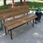 Скамейки деревянные со спинкой 2.6 фото