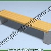 Скамейка бетонная С-3 фото