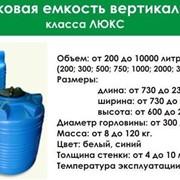 Пластиковые емкости для воды и топлива фото