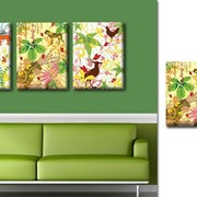Триптих картина на холсте Jungle фото